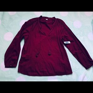 Old navy burgundy blouse